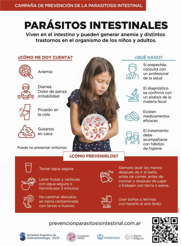 Primera campaña de prevención para evitar parasitosis intestinal en la Argentina