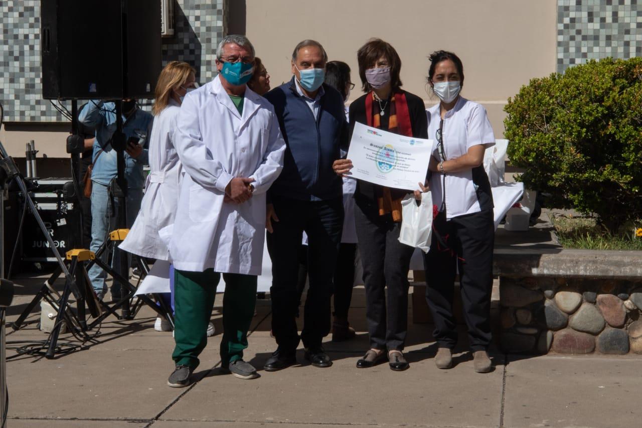 San Rafael: el Hospital Schestakow homenajeó a los fallecidos por la pandemia